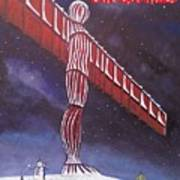 Angel Of The North Christmas Poster