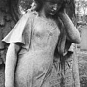 Angel On The Ground At Cavalry Cemetery, Nyc, Ny Poster