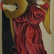 Angel With Lute Poster