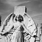 Angel With Outspread Wings And Other Angels In The Background Poster