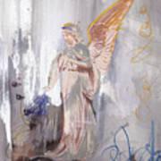 Angel Writing Doodles In Spirit Poster