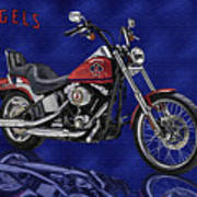 Angels Harley - Oil Poster