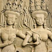Angkor Wat Relief Poster