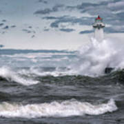 Angry Waters Of Lake Ontario Poster