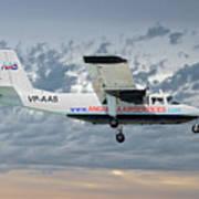 Anguilla Air Services Britten-norman Bn-2a-26 Islander 113 Poster
