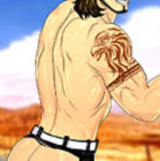 Anime Muscle Guys Boys Yaoi Male Characters Gay Art Gladiolus Poster