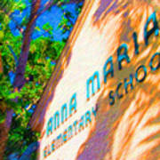 Anna Maria Elementary School Sign C131272 Poster
