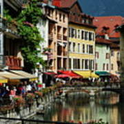 Annecy Medieval Town Poster