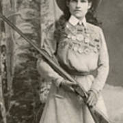 Annie Oakley With A Rifle, 1899 Poster