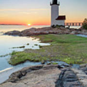 Annisquam Lighthouse Sunset Vertical Poster
