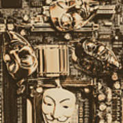 Anonymous Cyber Masks Poster