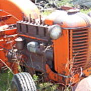Another Angle Of Old Tractor Poster