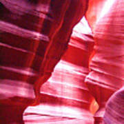 Antelope Slot Canyon Varying Colors From Impinging Sunlight Poster