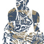 Anthony Davis New Orleans Pelicans Pixel Art 21 Poster