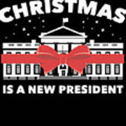 Anti Donald Trump Christmas Edition Vote For Dems Dark Poster