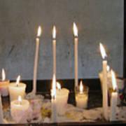 Antigua Church Candles Poster