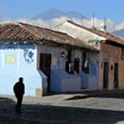 Antigua Guatemala Streetscene Poster