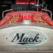 Antique 1930 Mack Bc-cd Fire Truck Poster