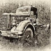 Antique 1947 Mack Truck Poster