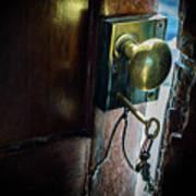 Antique Brass Doorknob Poster