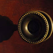 Antique Cabinet Handle And Shadow Poster