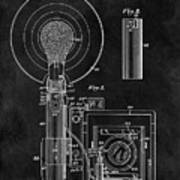 Antique Camera Flash Patent Poster