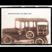 Antique Car For Dads Day Poster