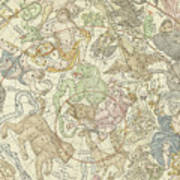 Antique Celestial Map Poster