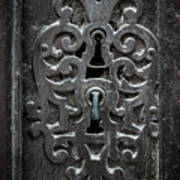 Antique Door Lock Poster