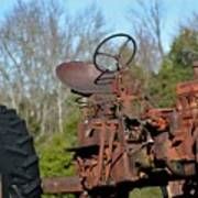 Antique Farmall Tractor 4a Poster