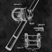 Antique Fishing Reel Patent Poster