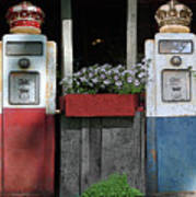Antique Gas Pumps Poster