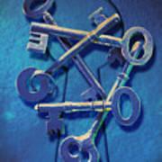 Antique Keys Poster