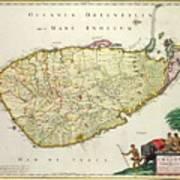 Antique Map Of Ceylon Poster by Nicolas Visscher