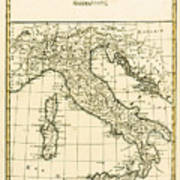 Antique Map Of Italy Poster