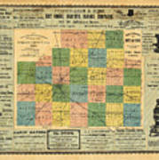 Antique Map Of The Mclean County - Business Advertisements - Historical Map Poster