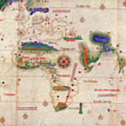 Antique Maps - Old Cartographic Maps - Antique Map Of The World, 1502 Poster