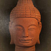 antique oil effect Buddha Khmer Poster