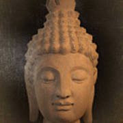 antique oil effect Buddha Sukhothai Poster