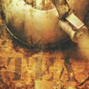 Antique Old Tea Metal Sign. Rusted Drinks Artwork Poster