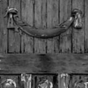 Antique Ornate Wood Panel Poster