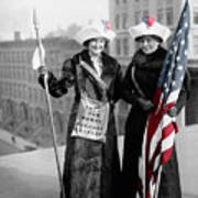 Antique Photo Of Two Women Poster