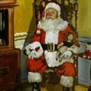 Antique Santa Poster by Doug Strickland