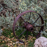 Antique Steel Wagon Wheel Poster