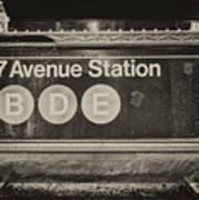 Antique Subway Entrance Poster