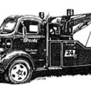 Antique Tow Truck Poster by Sheryl Unwin