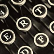 Antique Typewriter Keys Detail Poster