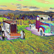 Antique Vehicles Poster
