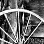 Antique Wagon Wheel Poster