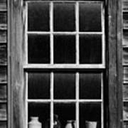 Antique Window With Pottery Poster